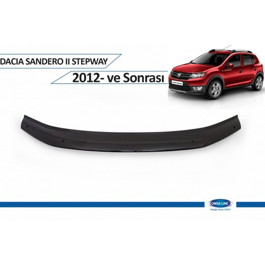 Dacia Sandero 2 Stepway 2012- Ön Kaput Koruyucu Omsa