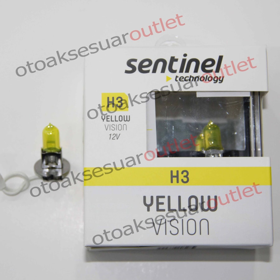 Süper Sarı Işık 12V Ampül Sentinel H3
