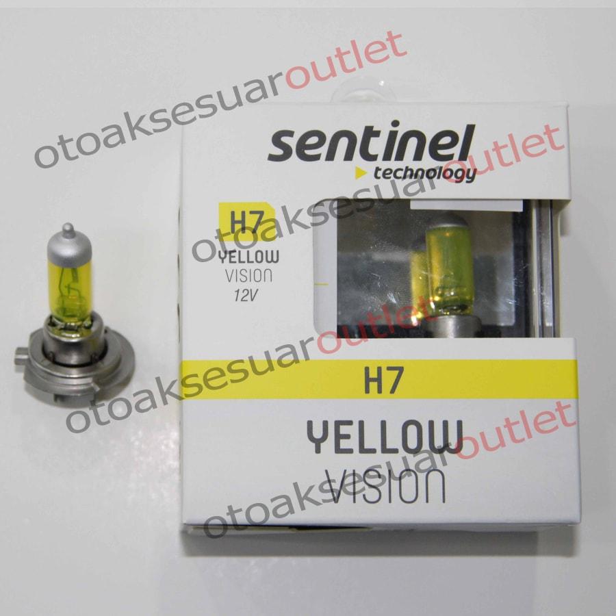 Süper Sarı Işık 12V Ampül Sentinel H7